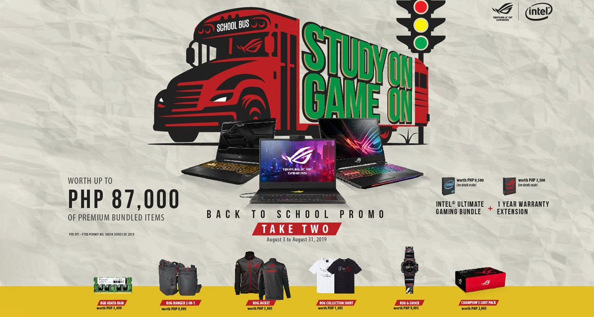 ASUS ROG Extends Study On Game On Back to School Promo