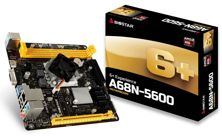 BIOSTAR Rolls Out A68N-5600SoCMotherboard for SFF and HTPCs