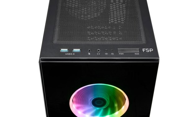 FSP Introduces CMT340 RGB Tempered Glass Chassis