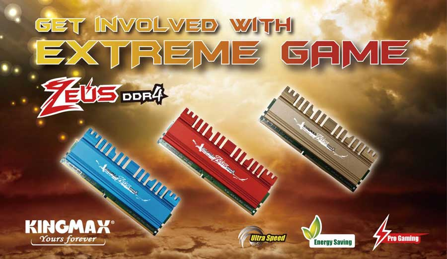 KINGMAX Sets Sight At The Gaming Market With ZEUS DDR4