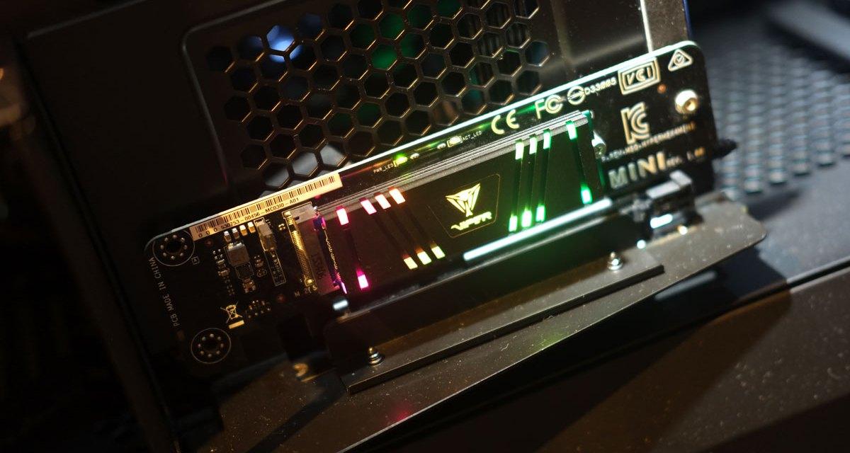 Patriot Previews Viper VPR100 1TB M.2 RGB SSD at Computex