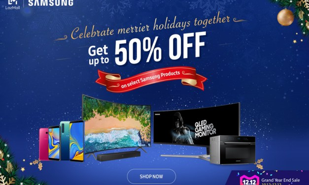 Samsung Offers up to 50% Off at Lazada's 12.12 2018 Sale