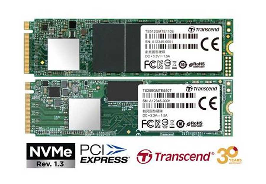 Transcend Releases the MTE110S & MTE550T NVME SSD