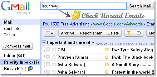 How to Filter Unread Email in Gmail