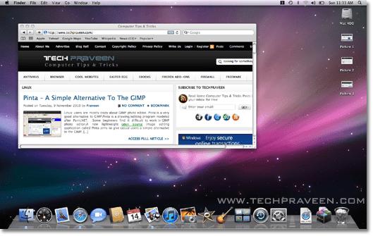 screen capture mac os x 10.5.8