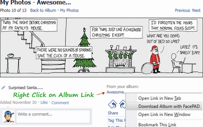 Download All Photos, Images Inside Facebook Albums Easily in Firefox Addon