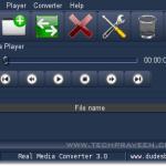 Real Media Converter – Convert Real Media formats(rm, ra, ram) to mp3/wav formats