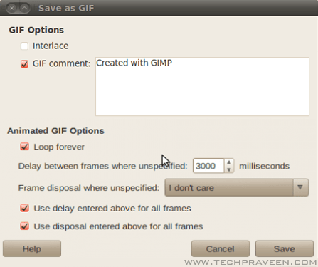 How to make animated gif picture in gimp click save set delay time for gif animation in gimp negle Image collections