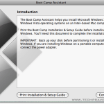 Boot Camp Assistant Dialog Box