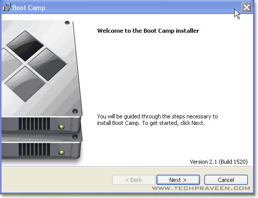 Boot Camp Drivers Installation Dialog Box