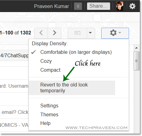 How to Revert Back to Old Gmail Look