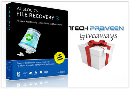 Auslogics File Recovery 3 Giveaways