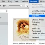 iTunes Account Signout