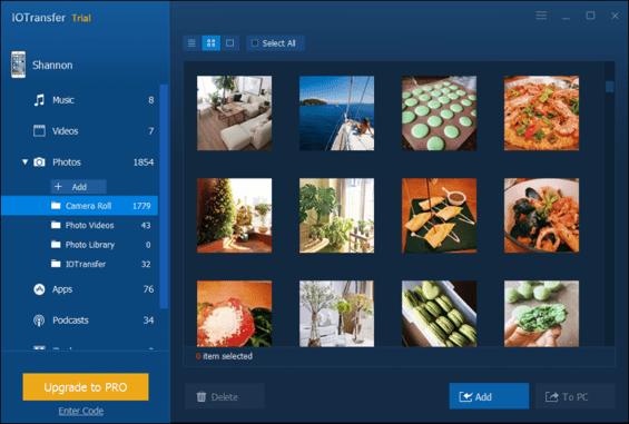 iOTransfer Optimized UI