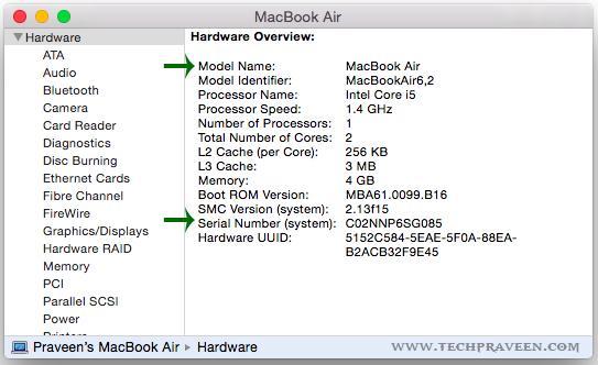 Mac Details in System Information