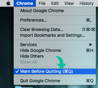 Warn Before Quitting Google Chrome