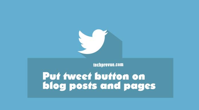 tweet button blogger