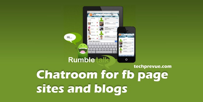 Rumbletalk chatroom for Facebook page and blog