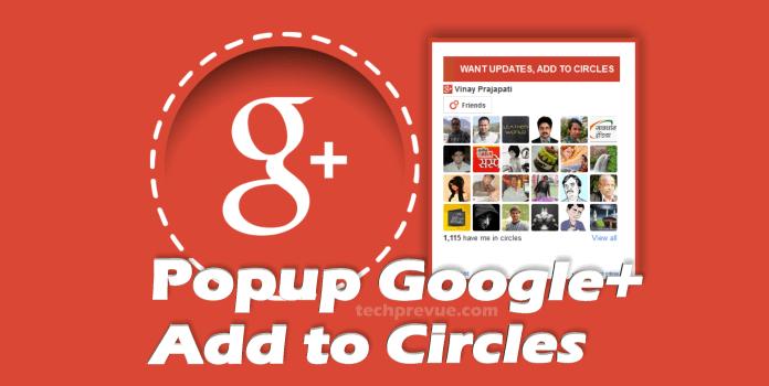 Add to Circles CSS Popup widget