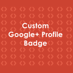 Custom Google+ Profile Badge