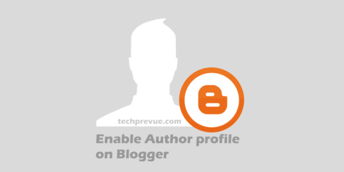 Enable author profile on Blogger