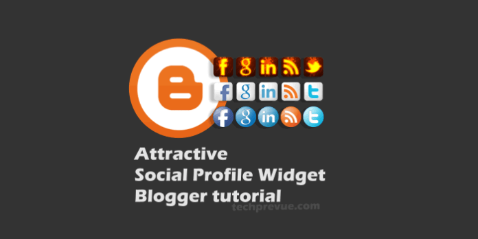 Attractive Social Profile Widget for Blogger