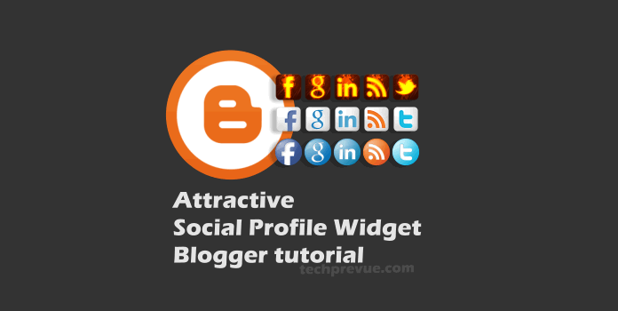 Attractive Social Profie Widget for Blogger