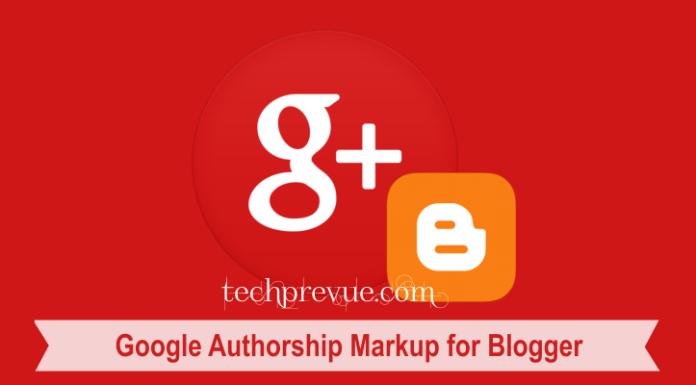Google Authorship Markup for Blogger
