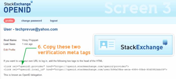 StackExchange OpenID Meta Tagsfor Blogger