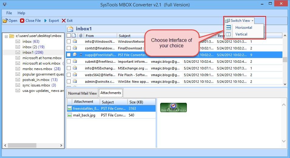 Mbox converter open