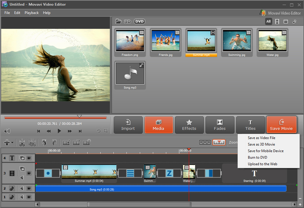 Add videos to the editor