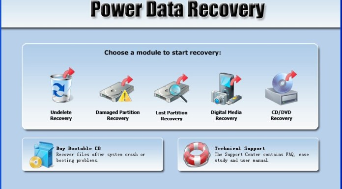 mini tool power data recovery start