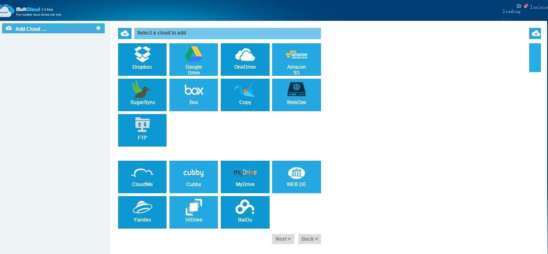 multcloud add cloud service