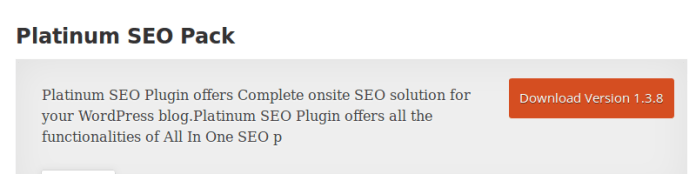 Platinum SEO Pack Plugin