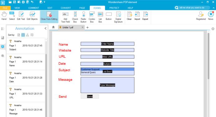 pdfelements pdf form