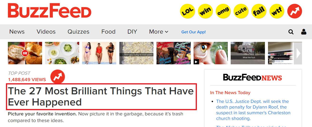 Improve headlines