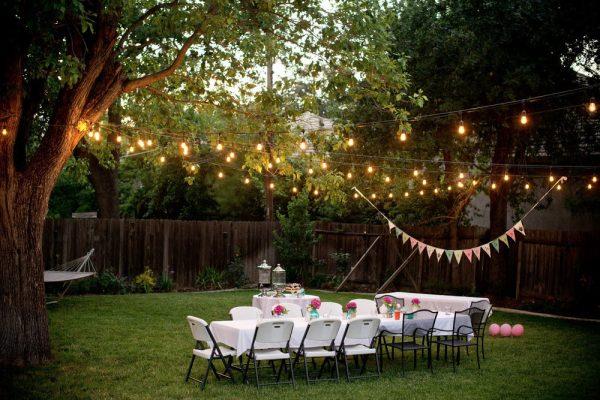Backyard party porch