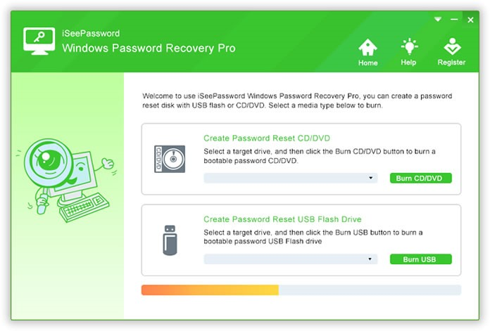 iSeePassword Windows Password Recovery Pro Boot Disk
