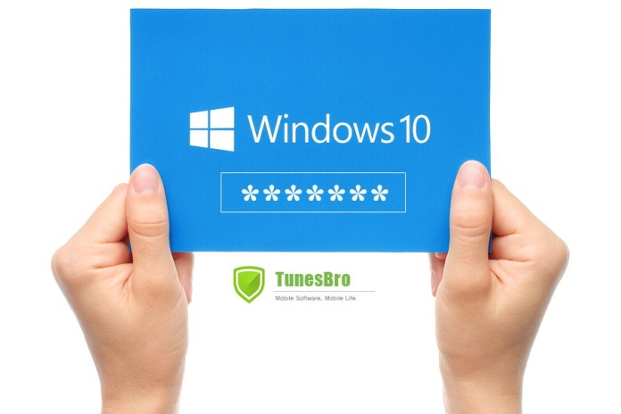 Tunesbro Windows 10 Password Recovery Step by Step