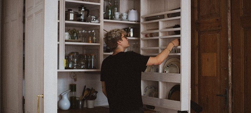 best ways to organize a pantry with deep shelves