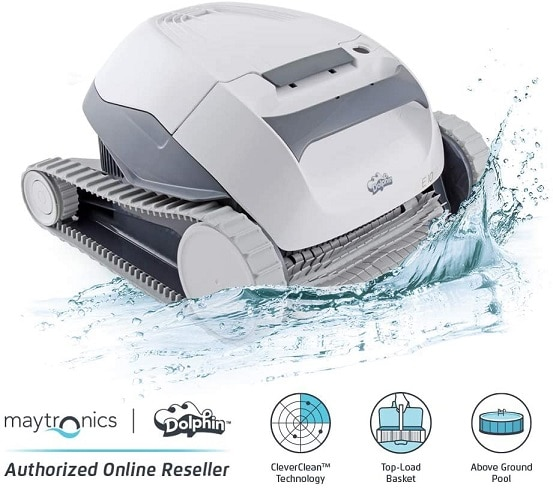 Dolphin E10 robotic above ground pool cleaner for intex pool