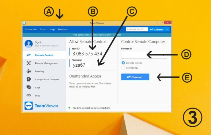 TeamViewer Connection window