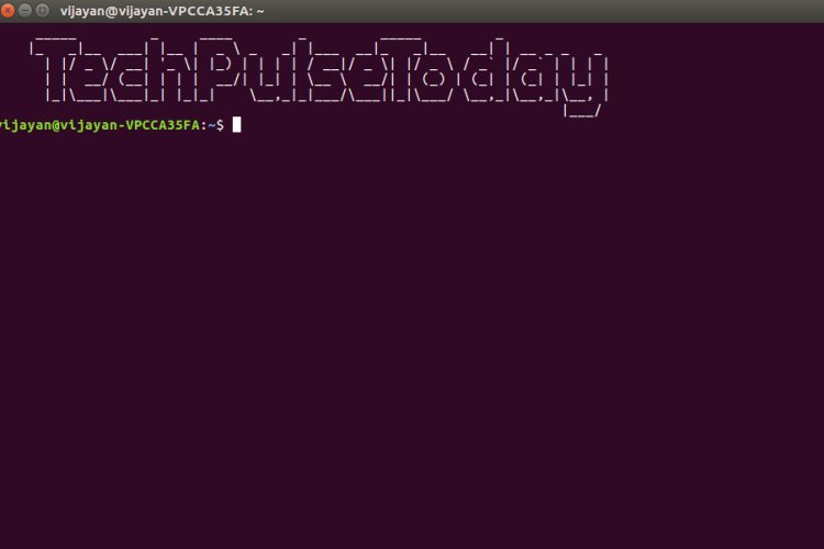 Add a welcome message to your terminal