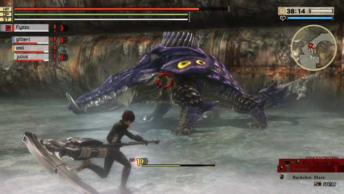 Screenshot from God Eater published by Bandai Namco
