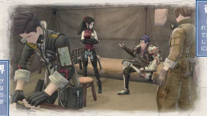 Screenshot from Valkyria Chronicles 4