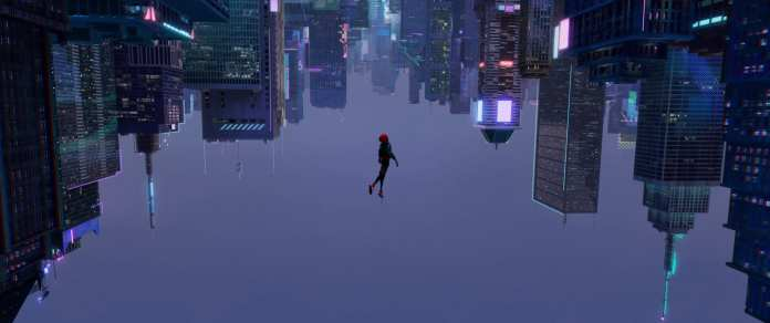 Miles' Spidey in Into The Spider-Verse