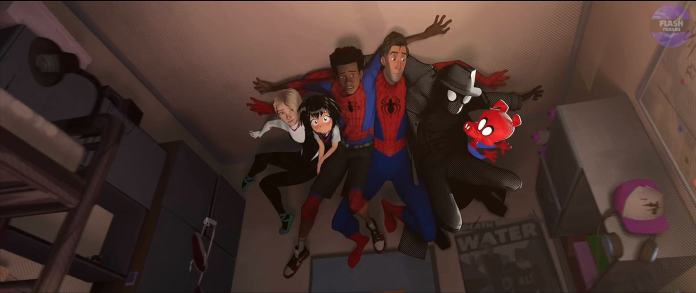 The team in Into The Spider-Man Into The Spider-Verse