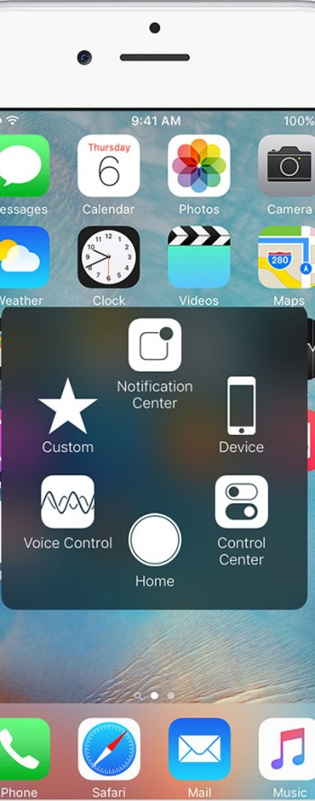 Assistive touch for printing screen on iPhone