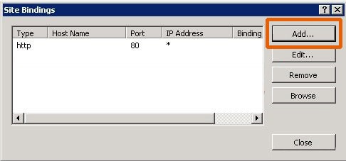 Site Binding IIS 7