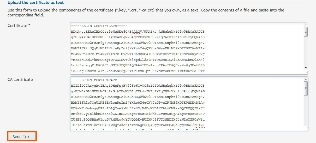 Upload SSL Certificate in Plesk